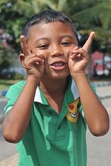 Boy greets in Singaraja