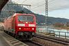BR 120.2 im Bahnhof Königstein (sächs. Schweiz) auf der Fahrt Richtung Bad Schandau