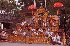 Big Gamelan orchester in Denpasar