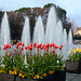 Tokyo, Ueno Park, Large Fountain with Flowerbeds