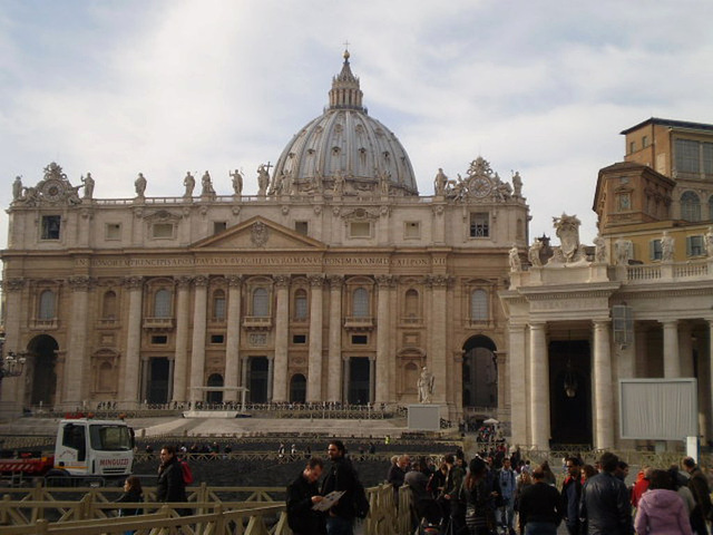 Saint Peter Square and Basilica.