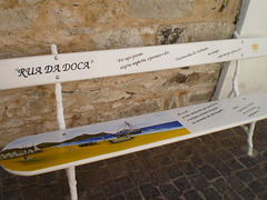 Bench outside Boutique da Poncha.