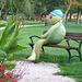 Gaja skulpto en la parko ĉe Balaton