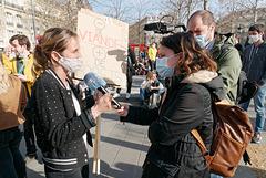Interviewée par LCI