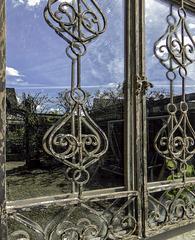 A garden window view