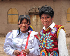 A smiling couple from Raqchi  - Cuzco - Perú