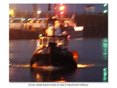 Adurni works on late in Newhaven Harbour - 26.9.2017