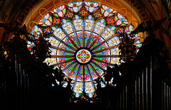 Fensterrose der Abteikirche Ebrach - The rose window of the abbey church Ebrach - PiC