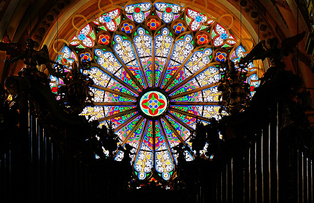 Fensterrose der Abteikirche Ebrach - The rose window of the abbey church Ebrach - PiC
