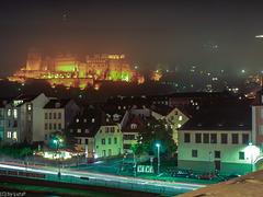 Heidelberger Schloss im Novembernebel - Heidelberg Castle in November Fog