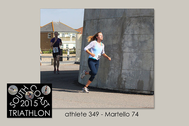athlete 349 - Martello 74 - South Coast Triathlon - Seaford - 4.7.2015