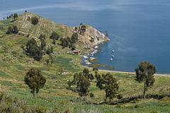 Bolivia, Titicaca Lake, Western Coast of the Island of the Sun