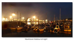 Newhaven Harbour at night - from the marina - 26.9.2017