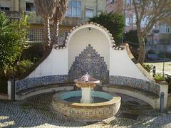 Fountain in the garden of Roque Gameiro House.