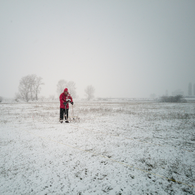 Earth Resistance survey in snow.