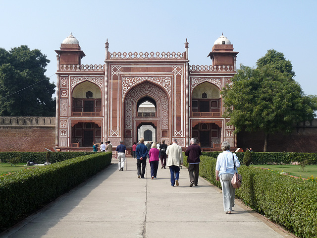 Agra- Itimad-ud-Daulah's Tomb- Approaching the Gateway
