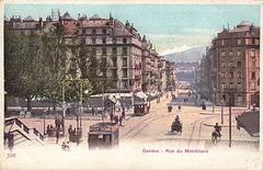 Naskiĝ- kaj loĝurbo de Hector Hodler - Ĝenevo (Avenuo de Montblanc, bildkarto el 1905)