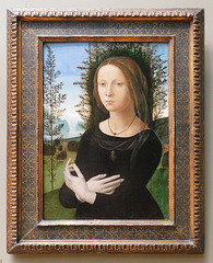 Portrait of a Young Woman by Lorenzo di Credi in the Metropolitan Museum of Art, Sept. 2021