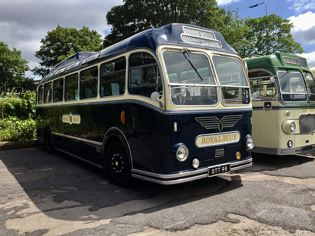 1953 Bristol coach of Royal Blue.