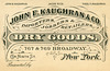 John E. Kaughran, Dry Goods, New York