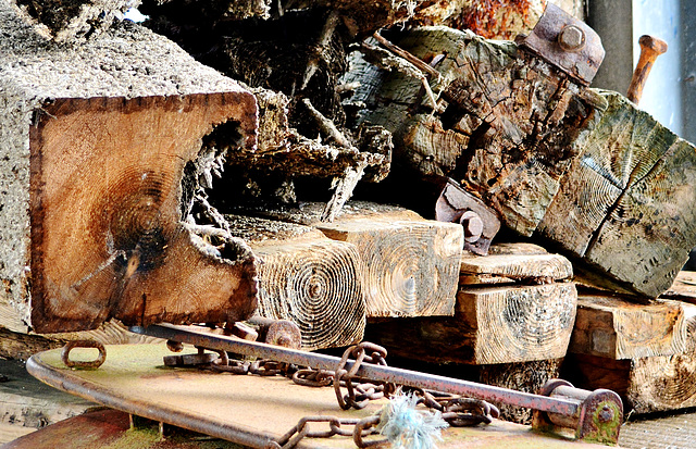 North Shields Fishquay. Old Timber