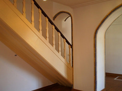 Indoor staircase.