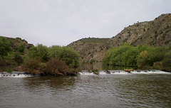 Weir on Guadiana River.