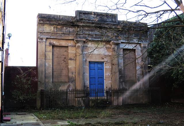doric facade, queen's place , chester