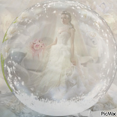 dans ma robe de mariée...