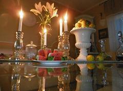 Tischdeko mit Wassermelone