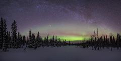Milky Way and Aurora panorama