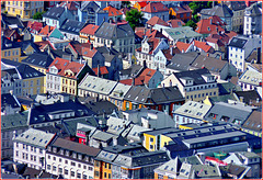 The roofs from Bergen : Dormers and Velux
