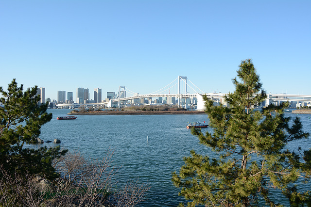 Japan, Rainbow Bridge over Tokyo Bay