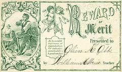 Reward of Merit Presented to Oliver K. Ott