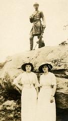 Women  at General Warren Statue, Little Roundtop, Gettysburg, Pa.