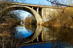 Vorfrühling an der Echo-Brücke