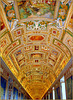 Ceiling from the Gallery of the 'Geographical Maps', Vatican Museum, Roma...