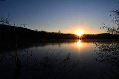 Un coucher de soleil lac DÀvignon