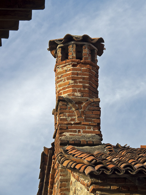 A chimney of another era - The medieval village of the Ricetto, Biella