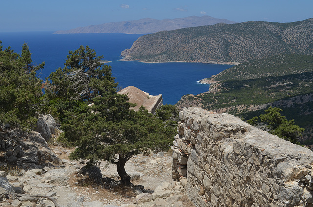 Rhodes, The Monolithos Castle, Overlooking to the Armenistis Cape