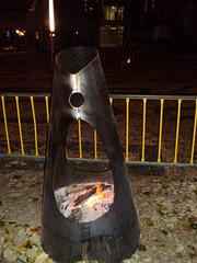 Public wood heating.