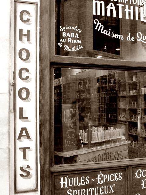 On porte chocolat en ville...