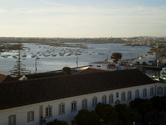 View to Faro's coast and Ria Formosa.