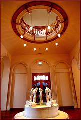 Brunnen in der Eingangshalle des Osthaus-Museums in Hagen