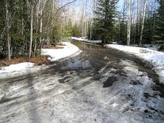 Spring, Alaskan driveway