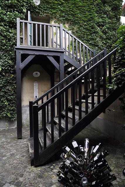 L'escalier de l'auberge