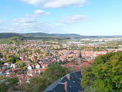 Wernigerode-Blick vom Schloss
