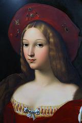 Peinture sur porcelaine de Jeanne d'Aragon