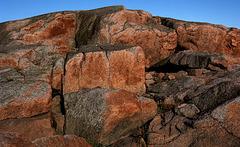 Rocks i sunset - Getterøen, Sweden