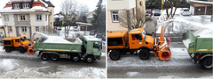 Clearing snow in the Allgäu, Pictures 1 from 3. ©UdoSm